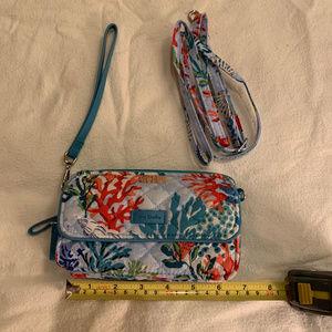 Vera Bradley wallet/crossbody Shore Thing pattern